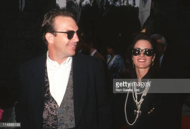 Kevin Costner and Cindy Costner during Premiere of Robin Hood Prince of Thieves in Los Angeles at Westwood Marquis in Westwood California United...