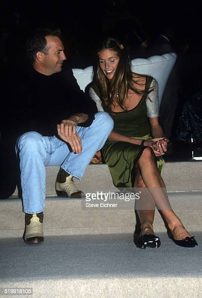 Kevin Costner and Elle Macpherson at Sean 'Puffy' Combs' birthday party New York November 4 1998