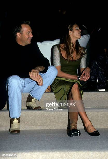 Kevin Costner and Elle Macpherson at Sean Puffy Combs birthday party New York November 4 1998