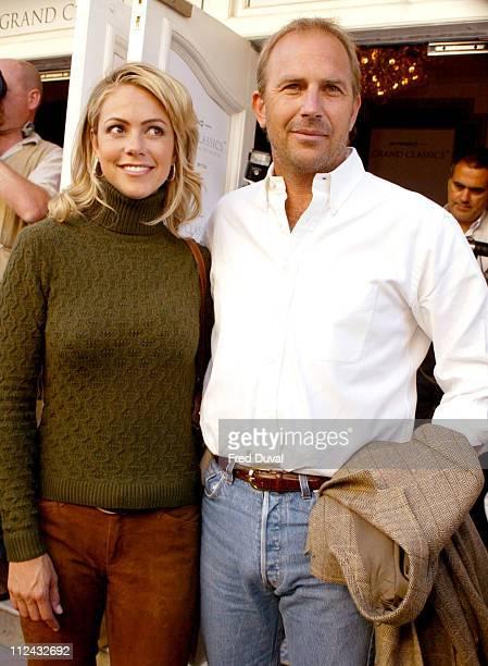 Kevin Costner and fiancee Christine Baumgartner