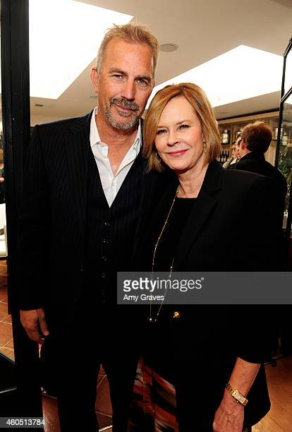 Kevin Costner and JoBeth Williams attend a special luncheon for Kevin Costner and Mike Binder hosted by Colleen Camp for the film BLACK OR WHITE at...