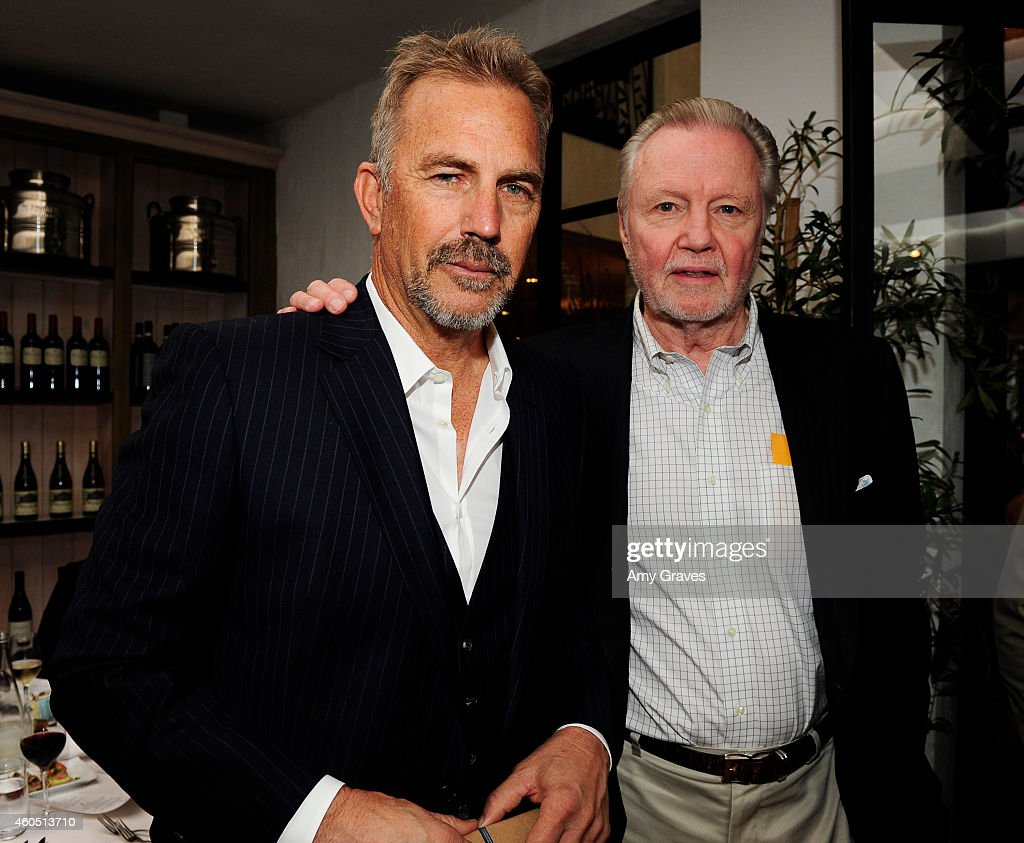 Kevin Costner and Jon Voight attend a special luncheon for Kevin Costner and Mike Binder hosted by Colleen Camp for the film BLACK OR WHITE at Fig & Olive Melrose Place on December 15, 2014 in West Hollywood, California.