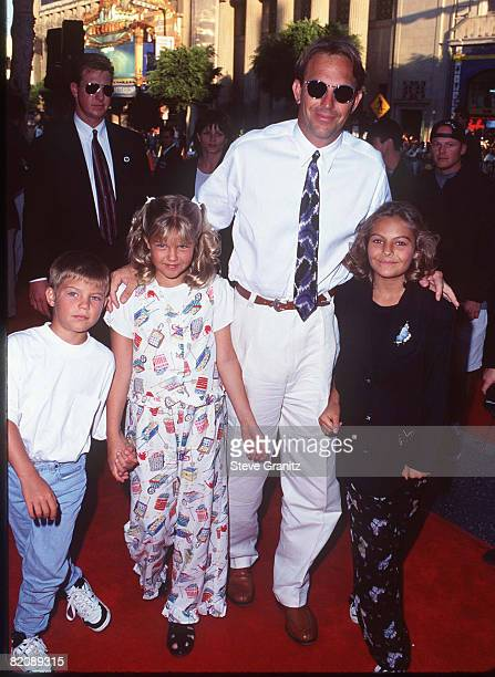 Kevin Costner and Kids Lily Annie Joe