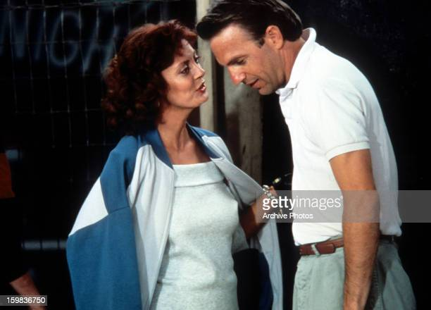 Kevin Costner and Susan Sarandon in a scene from the film 'Bull Durham' 1988