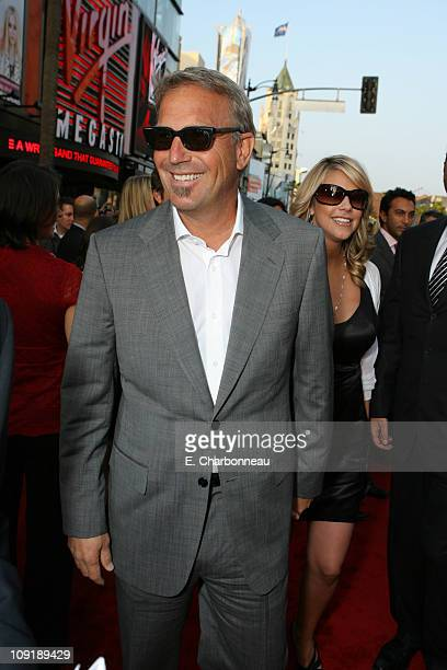 Kevin Costner and wife Christine Baumgartner during MGM Distribution Co 'Mr Brooks' Los Angeles Premiere at Grauman's Chinese Theater in Los Angeles...