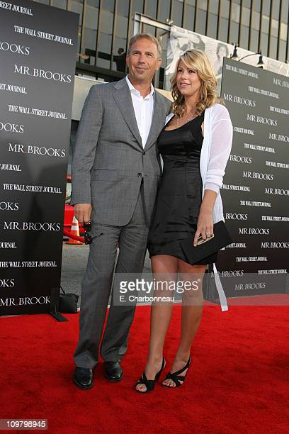 Kevin Costner and wife Christine Baumgartner during MGM Distribution Co Mr Brooks Los Angeles Premiere at Grauman's Chinese Theater in Los Angeles...