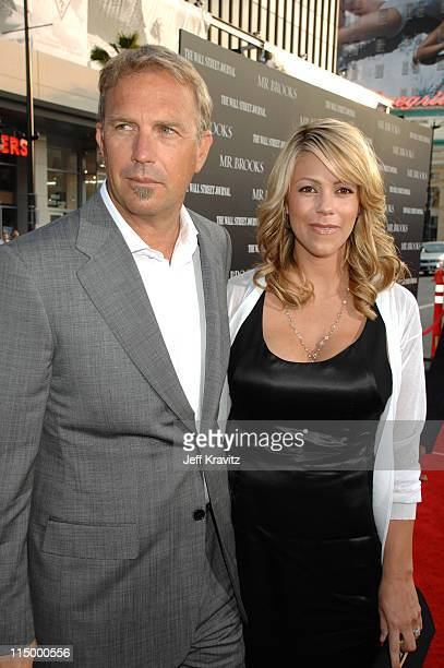 Kevin Costner and wife Christine Baumgartner during Mr Brooks Los Angeles Premiere Red Carpet at Grauman's Chinese Theater in Hollywood California...
