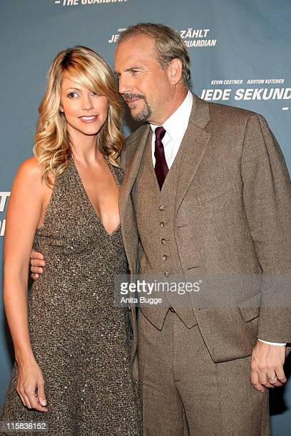 Kevin Costner and wife Christine Costner during 'The Guardian' Premiere Red Carpet Arrivals at Kino International in Berlin Berlin Germany