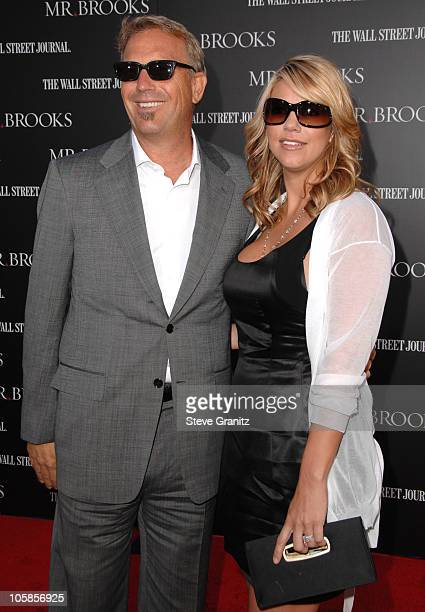Kevin Costner and wife Christine during 'Mr Brooks' Los Angeles Premiere Arrivals at Grauman's Chinese Theatre in Hollywood California United States