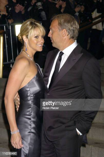 Kevin Costner and wife Christine during The Costume Institute's Gala Celebrating 'Chanel' at The Metropolitan Museum of Art in New York City New York...