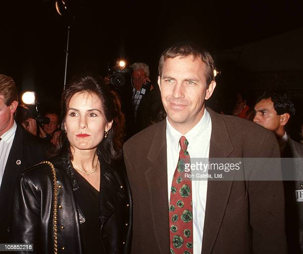 Kevin Costner and wife Cindy during JFK Los Angeles Premiere at Mann's Village Theater in Westwood California United States