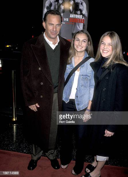 Kevin Costner Annie Costner and Lily Costner during 'Play it to the Bone' Los Angeles Premiere at El Captain Theatre in Hollywood California United...