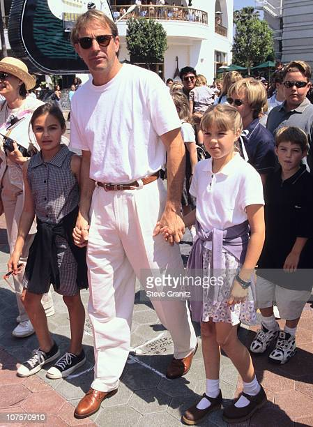 Kevin Costner Annie Lily Joe during Flipper Los Angeles Premiere at Cineplex Odgen in Universal City California United States