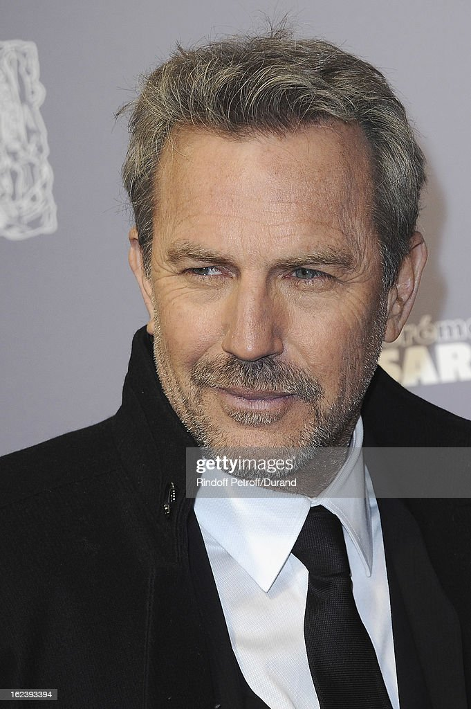 Kevin Costner arrives at Cesar Film Awards 2013 at Theatre du Chatelet on February 22, 2013 in Paris, France.