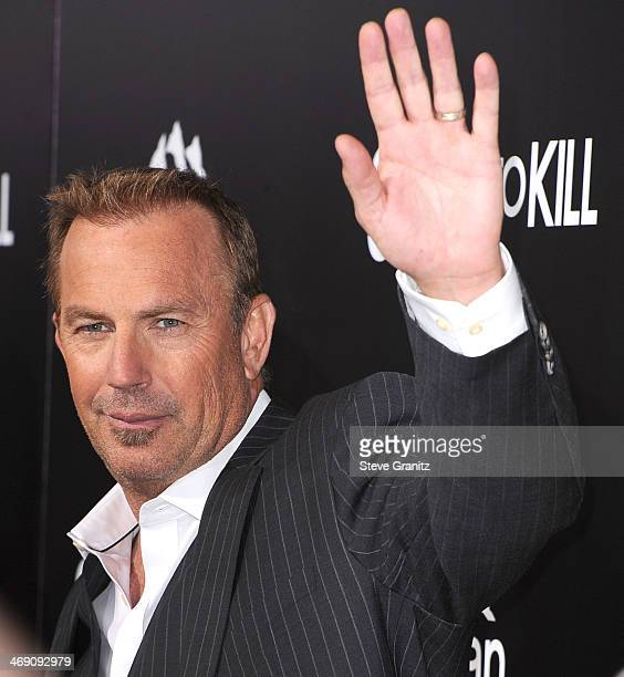 Kevin Costner arrives at the '3 Days To Kill' at ArcLight Cinemas on February 12 2014 in Hollywood California