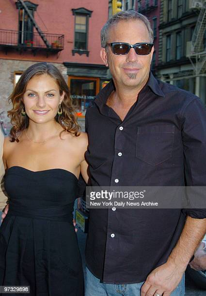 Kevin Costner arrives at the Tribeca Grand Hotel with daughter Annie for a special screening of the movie Mr Brooks He stars in the film