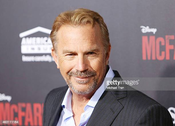 "Kevin Costner arrives at the world premiere of ""McFarland, USA"" held at the El Capitan Theatre on February 9, 2015 in Hollywood, California."