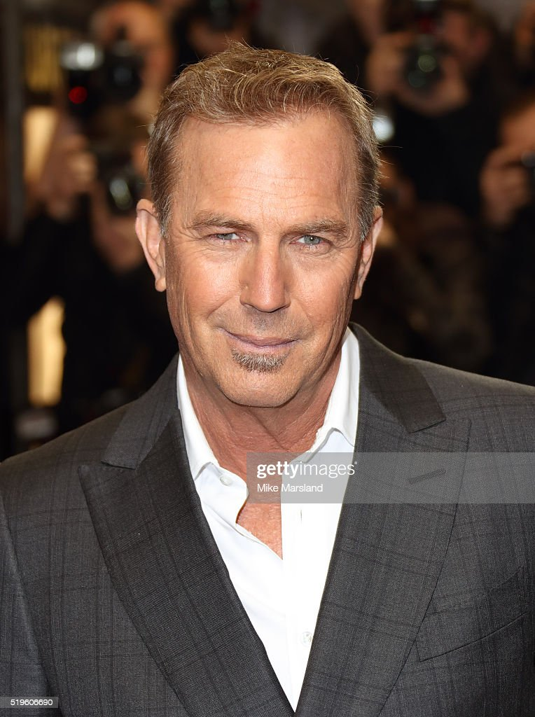 Kevin Costner arrives for the UK premiere of 'Criminal' at The Curzon Mayfair on April 7, 2016 in London, England.