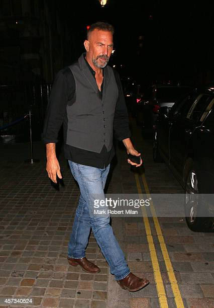 Kevin Costner at the Chiltern Firehouse on October 16 2014 in London England
