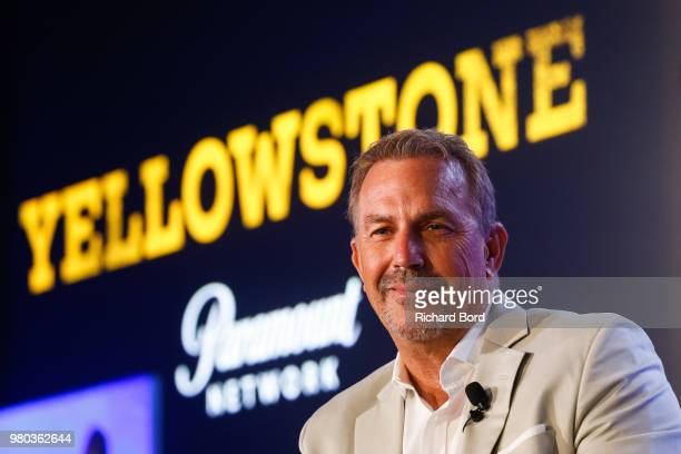 Kevin Costner attends 'A conversation with Kevin Costner from Paramount Network and Yellowstone' during the Cannes Lions Festival 2018 on June 21...