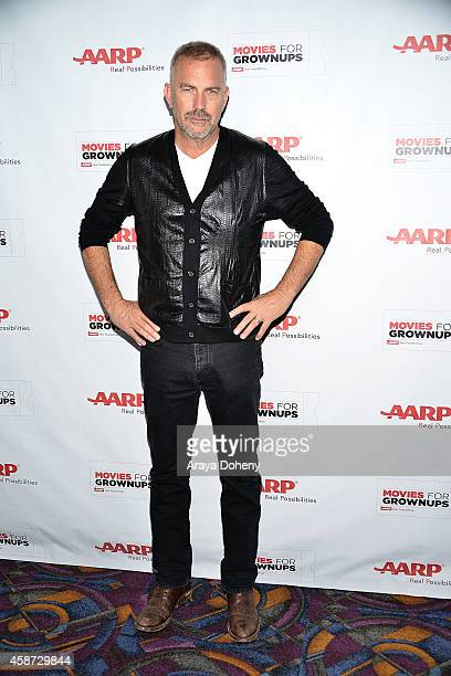 Kevin Costner attends AARP's 2nd Annual Movies For Grownups Film Showcase 'Black and White' at Regal Cinemas LA Live on November 9 2014 in Los...