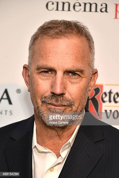 Kevin Costner attends cinema prive And PANDORA Jewelry Host A Special Screening Of 'Black Or White' on November 17 2014 in West Hollywood California