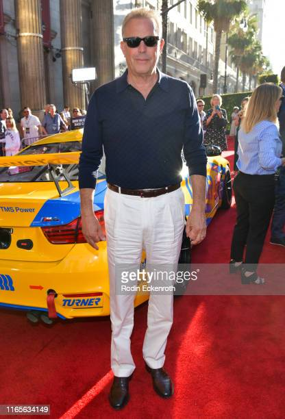 Kevin Costner attends the premiere of 20th Century Fox's The Art of Racing in the Rain at El Capitan Theatre on August 01 2019 in Los Angeles...