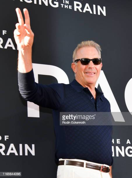 "Kevin Costner attends the premiere of 20th Century Fox's ""The Art of Racing in the Rain"" at El Capitan Theatre on August 01, 2019 in Los Angeles,..."