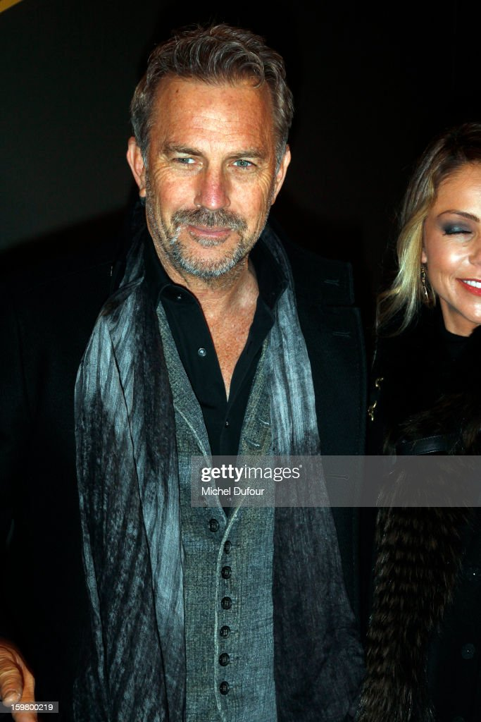 Kevin Costner attends the Versace Spring/Summer 2013 Haute-Couture show as part of Paris Fashion Week at Le Centorial on January 20, 2013 in Paris, France.