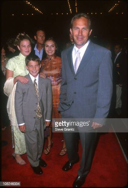 Kevin Costner Children Joe Annie Lily during For Love of The Game Los Angeled Premiere at Cineplex Odeon in Century City California United States