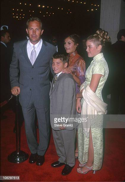 Kevin Costner Children Joe Lily Annie during For Love of The Game Los Angeled Premiere at Cineplex Odeon in Century City California United States