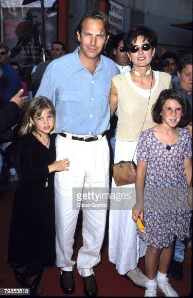 Kevin Costner Cindy kids Anne Lily and Joe