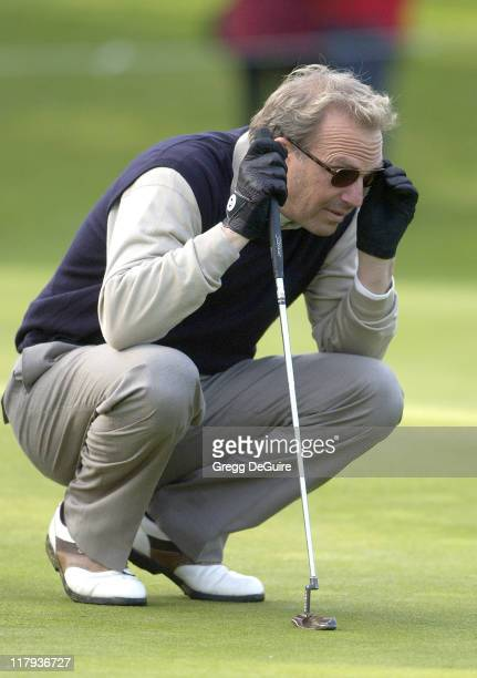 Kevin Costner during 2002 AT&T Pebble Beach National Pro-Am, Round 2 at Poppy Hills in Carmel, California, United States.
