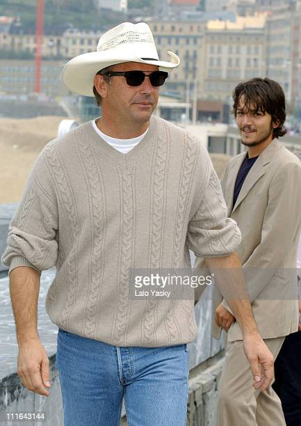 Kevin Costner during 2003 San Sebastian Film Festival 'Open Range' Photocall at Kursaal Palace in San Sebastian Spain