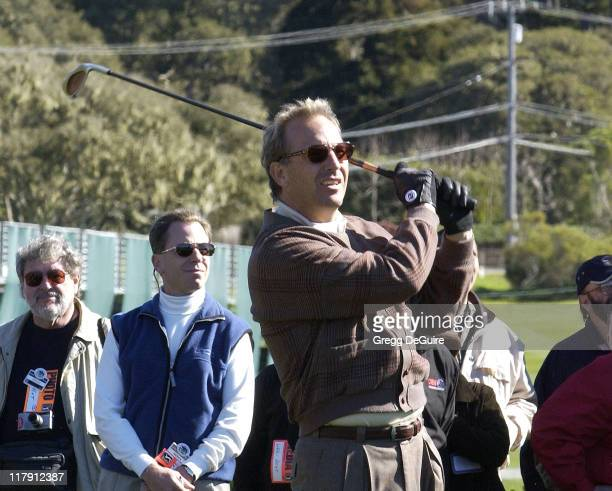 Kevin Costner during 3M Celebrity Challenge at the AT&T Pebble Beach National Pro-Am at Pebble Beach Golf Links in Carmel, California, United States.