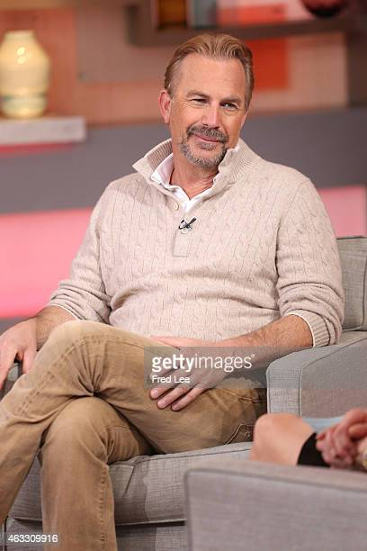 AMERICA Kevin Costner is a guest on 'Good Morning America' 2/12/15 airing on the ABC Television Network