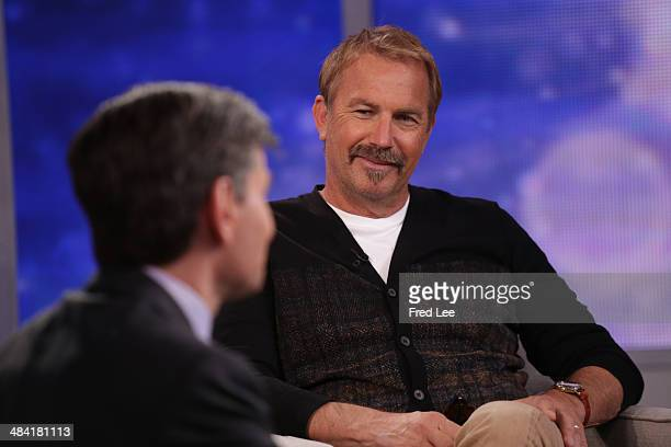 AMERICA Kevin Costner is a guest on Good Morning America 4/10/14 airing on the Walt Disney Television via Getty Images Television Network GEORGE