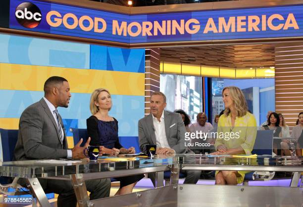 """Kevin Costner is a guest on """"Good Morning America,"""" on Tuesday, June 19, 2018 airing on the Walt Disney Television via Getty Images Television..."""