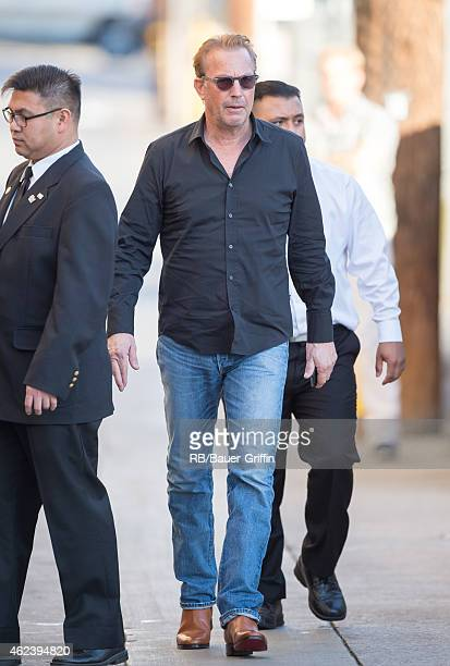 Kevin Costner is seen at 'Jimmy Kimmel Live' on January 27 2015 in Los Angeles California
