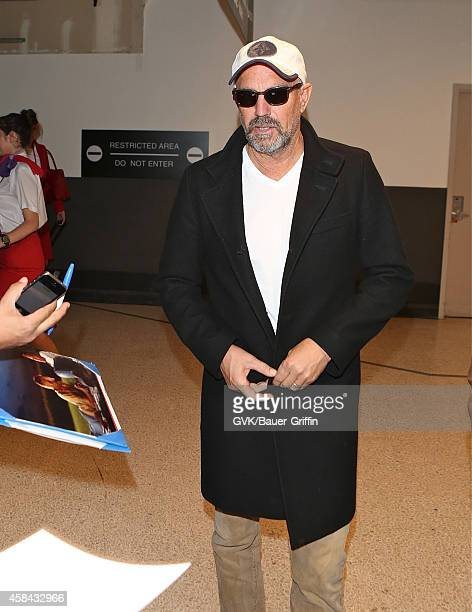 Kevin Costner is seen at LAX on November 04 2014 in Los Angeles California