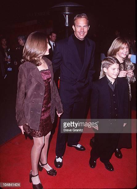 Kevin Costner Kids Lily Annie Joe during 'The Postman' Los Angeles Premiere at Warner Bros Studios in Burbank California United States