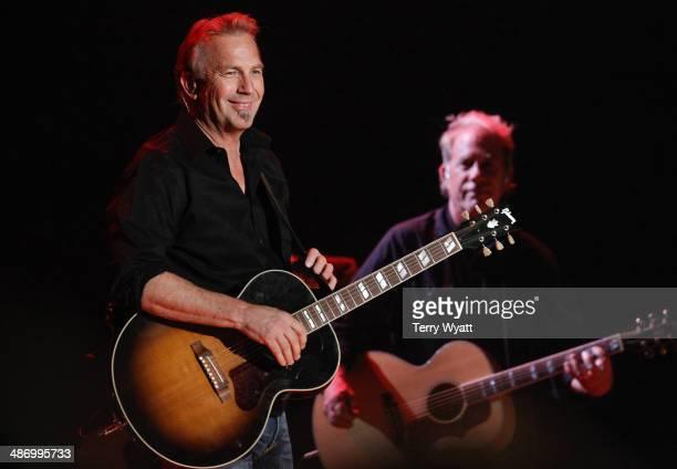 Kevin Costner performs at War Memorial Auditorium on April 26 2014 in Nashville Tennessee