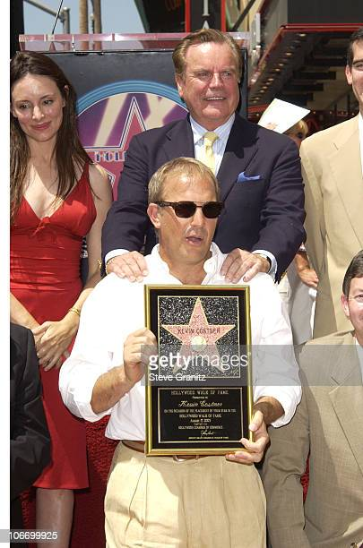 Kevin Costner Robert Wagner Madeleine Stowe during Kevin Costner Honored with a Star on the Hollywood Walk of Fame for His Achievements in Film at...
