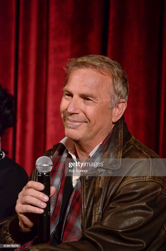 Kevin Costner speaks during an official academy screening of HIDDEN FIGURES hosted by the The Academy of Motion Picture Arts and Sciences at MOMA - Celeste Bartos Theater on December 8, 2016 in New York City.