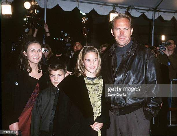 Kevin Costner with children Annie Joe and Lily
