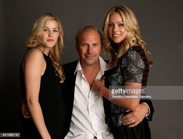 Kevin Costner with his daughter Lily and wife Christine Baumgartner