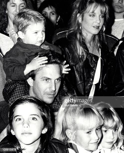 Kevin Costner with son Joe Costner and daughter Lily Costner and friends