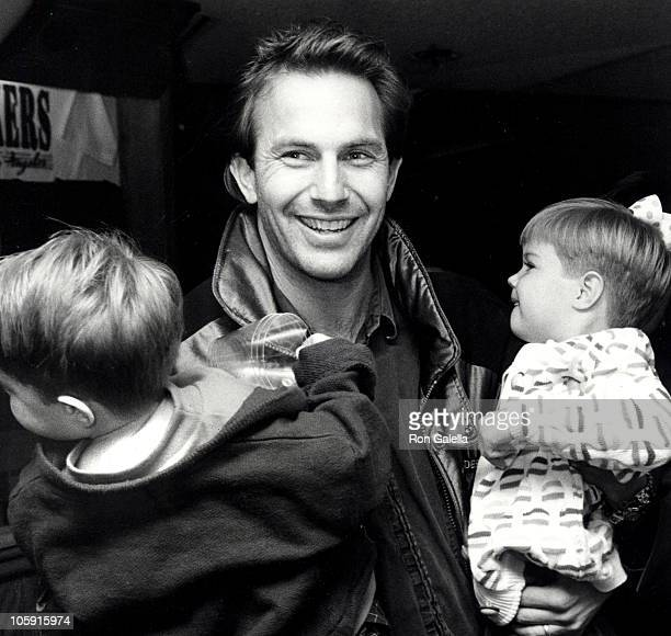 Kevin Costner with son Joe Costner and daughter Lily Costner