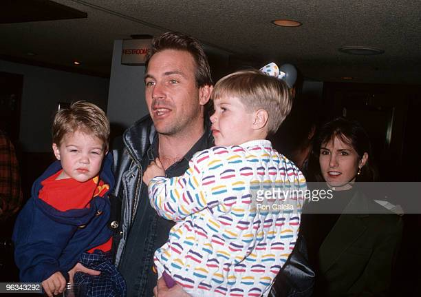 Kevin Costner with wife Cindy Costner son Joe Costner and daughter Lily Costner