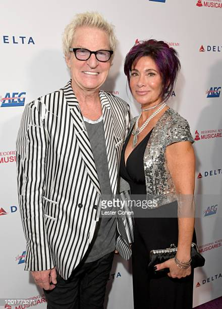 Kevin Cronin of music group REO Speedwagon and Lisa Cronin attend MusiCares Person of the Year honoring Aerosmith at West Hall at Los Angeles...